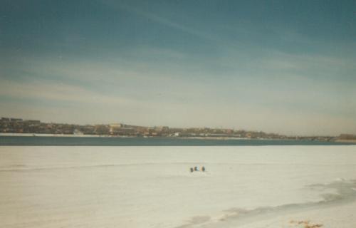 14. Eisangeln auf der Angara in Irkutsk